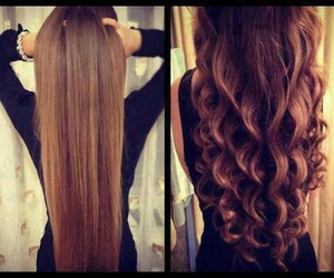 hair, curly, and straight image