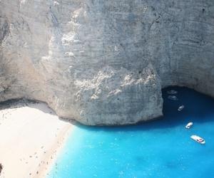 sea, Greece, and paradise image