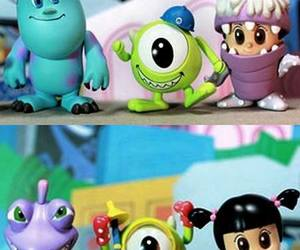 monsters inc, blue, and boo image