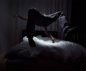 bed, boy, and photography image