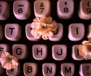 flores, letras, and vintage image