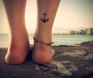 tattoo, anchor, and beach image