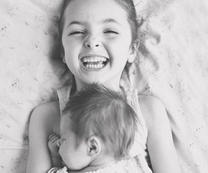 baby, smile, and sisters image