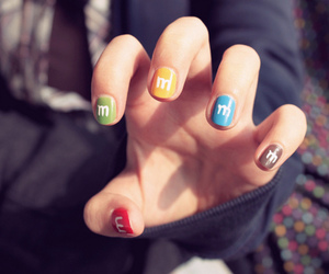 nails, m&m, and m&m's image