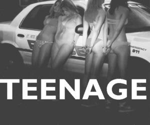 girl, police, and teenage image