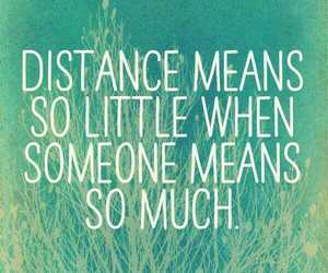 distance, him, and love image