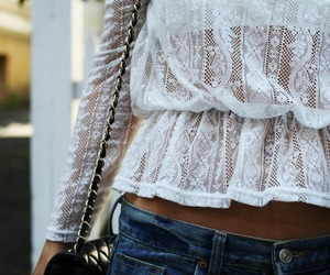 cropped, lace, and style image
