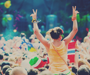 party, rave, and good vibes image