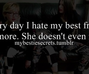 best friend, confession, and hate image