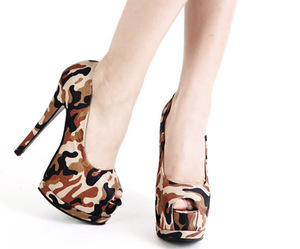 camouflage and pumps image