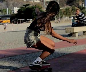 girl, hair, and skate image