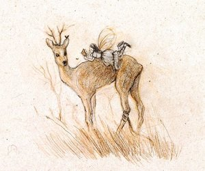 deer, drawing, and illustration image