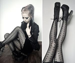 black, goth, and peaks image