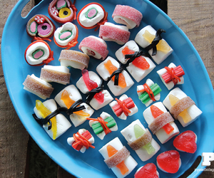food, sushi, and candy image