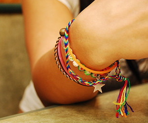 arm, bracelets, and colorful image