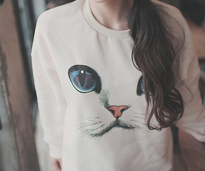 cat, clothes, and hipster image