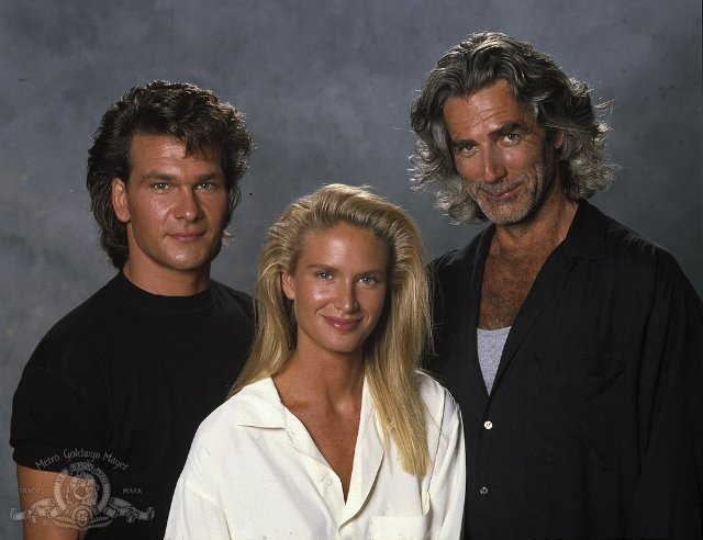 handsome, patrick swayze, and old movie image