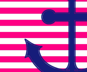 anchor, pink, and wallpaper image