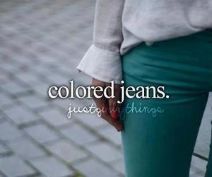 jeans, colored jeans, and color image