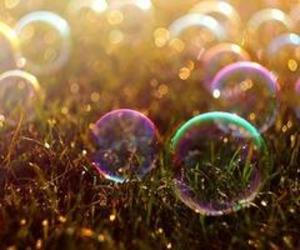 bubbles, grass, and summer image