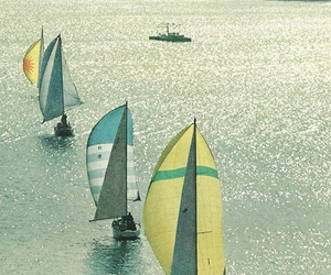 sea, sparkling, and yachts image