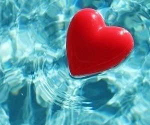 blue, water, and heart image