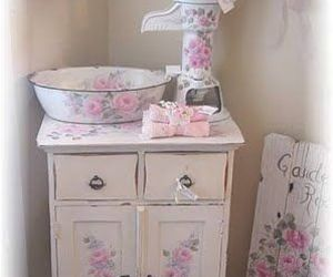 cottage, shabby, and floral image