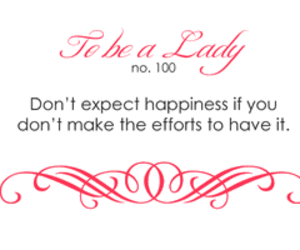 lady, quote, and be a lady image