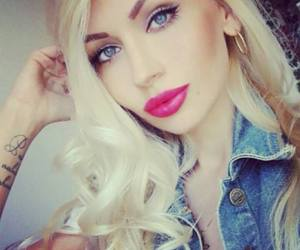 blonde and lips image