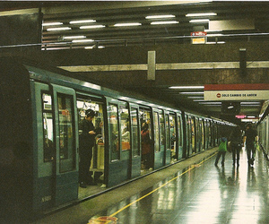 metro, chile, and subway image