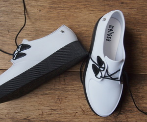 black and white, creepers, and fashion image