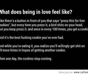 love, quote, and Cookies image