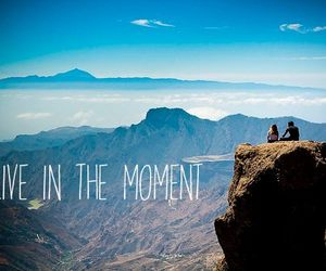 live, mountains, and moment image