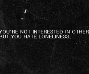 text, loneliness, and quote image