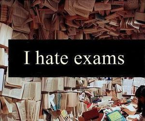exam, hate, and school image