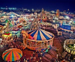 fun, lights, and carnival image