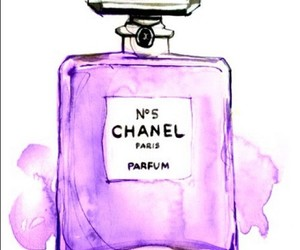 chanel, perfume, and drawing image