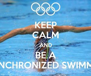 swimming, synchronized, and synchro image