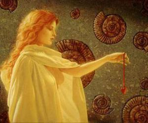 art, painting, and red head image