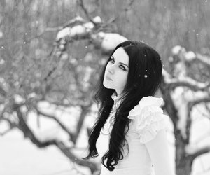 girl, snow, and photography image
