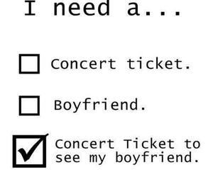 boyfriend, concert, and ticket image