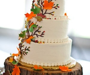 brown, cake, and fall image