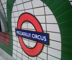 london, underground, and piccadilly circus image