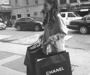ariana grande, chanel, and shopping image