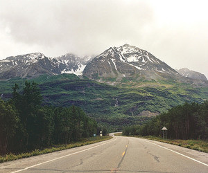 mountain, roads, and landscape image