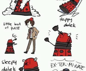 doctor who, Dalek, and soft kitty image