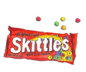 idk, skittles, and ramdom image