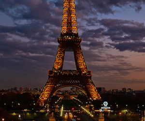 paris, eiffel tower, and night image