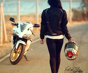 girl and motocycle image