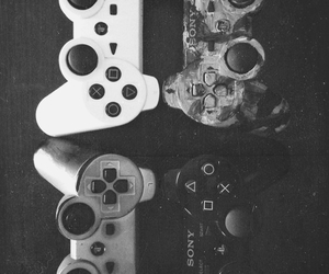 game and black and white image